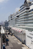 Cruise ships anchored in port Stock Photography