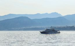 Cruise ships, Bay of Naples, Sorrento. Italy Royalty Free Stock Image