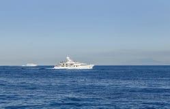 Cruise ships, Bay of Naples, Sorrento. Italy stock photo
