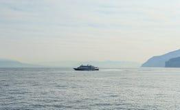 Cruise ships, Bay of Naples, Sorrento. Italy stock photos
