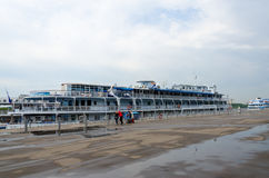 Cruise ships on berth of Northern River Station, Moscow Stock Image