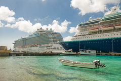 Cruise ships in Bonaire Royalty Free Stock Photo