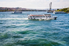 Cruise ships in Bosphorus, Istanbul Royalty Free Stock Photo