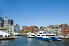 Cruise ships in Boston royalty free stock image