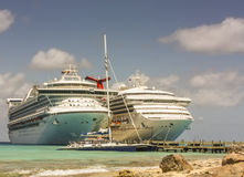 Cruise Ships and Catamaran Stock Photos