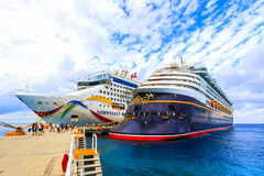 Cruise Ships In Cozumel Royalty Free Stock Photo