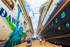 Cruise Ships In Cozumel Royalty Free Stock Photography