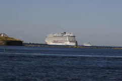 CRUISE SHIPS DEPART COPENHAGEN PORT Royalty Free Stock Photos
