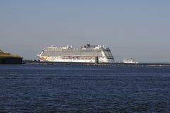 CRUISE SHIPS DEPART COPENHAGEN PORT Stock Photography