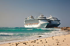 Cruise Ships in Grand Turk Islands Royalty Free Stock Photo