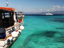 Cruise ships, Greece Stock Photo