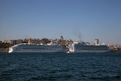 Cruise Ships at Istanbul Stock Photo