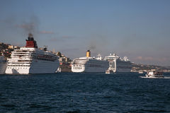 Cruise Ships at Istanbul Stock Image