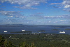 Cruise Ships in Maine Royalty Free Stock Image