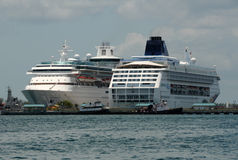Cruise ships in Nassau, The Bahamas Stock Images