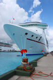 Cruise ships in Nassau port Royalty Free Stock Photo