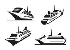 Cruise ships in perspective royalty free stock image