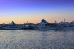 Cruise-ships at Piraeus Stock Images