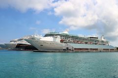 Cruise ships in the port Royalty Free Stock Photo