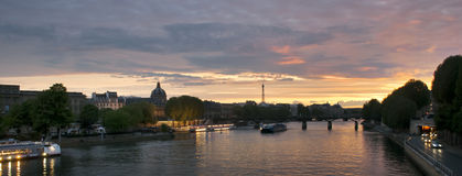Cruise ships on Seine River in Paris, France Stock Photo