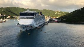 Cruise Ships, St. Thomas stock video