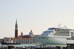 Cruise, ships and Venice Stock Images