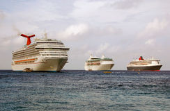 Cruise ships visiting Grand Cayman Stock Image