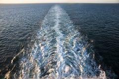 Cruise Ships Wake Royalty Free Stock Images