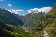 Cruise and sightseeing trips on the Geirangerfjord Royalty Free Stock Image