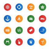 Cruise simply icons Stock Images