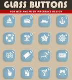 Cruise simply icons. Cruise simply symbol for web icons and user interface Royalty Free Stock Images