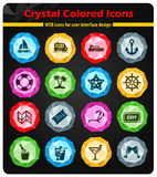 Cruise simply icons. Cruise simply symbol for web icons and user interface Stock Images