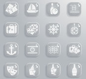 Cruise simply icons Royalty Free Stock Photos