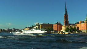 Cruise in Stockholm, Zweden stock videobeelden