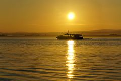 Cruise at sunrise on ther Moray Firth Stock Images