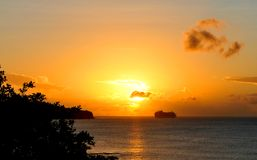 Cruise at sunset Royalty Free Stock Photos
