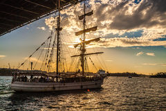 Sailboat Sydney Harbour Stock Photos