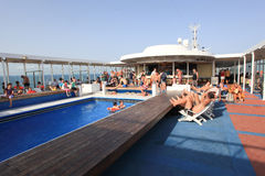 Cruise swimming pool Stock Image