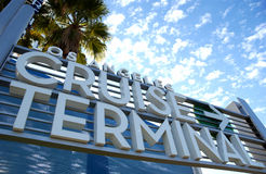 Cruise terminal Royalty Free Stock Image