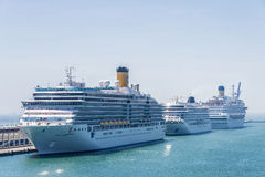 Cruise Terminal in Barcelona Royalty Free Stock Images