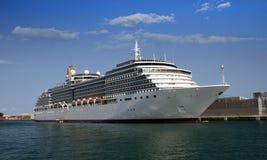 Cruise tied up Stock Image