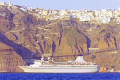 Cruise to Santorini Royalty Free Stock Photos