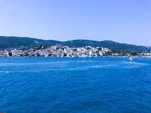 On the cruise to the Skiathos Island royalty free stock photography