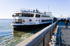 Cruise to statue of liberty in New York Stock Image