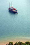 Cruise tourist boat near beach Stock Photo