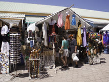 Cruise Tourists Shopping in Belize City, Belize Royalty Free Stock Images