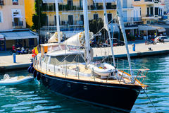 Cruise Trip in Greece. Aug. 15 2014 Tourists Enjoy Trip to Greece island Stock Photography