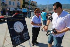 Cruise trip - Greece island Royalty Free Stock Photography
