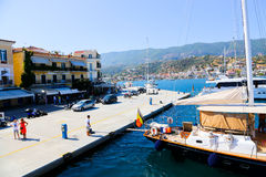 Cruise trip - Greece island Stock Image