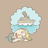 Cruise Vacation Dream Royalty Free Stock Image